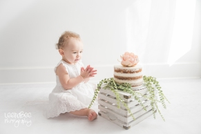 Boho First Birthday Cake Smash Dublin Ohio-16