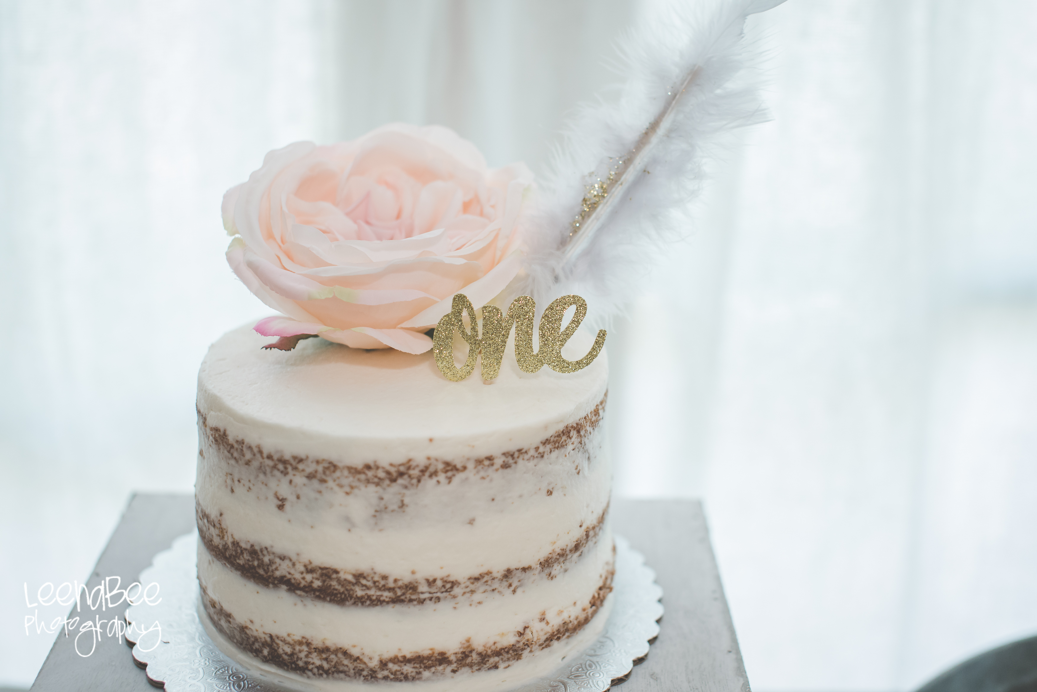 Boho First Birthday Cake Smash Dublin Ohio2 LeenaBee Photography