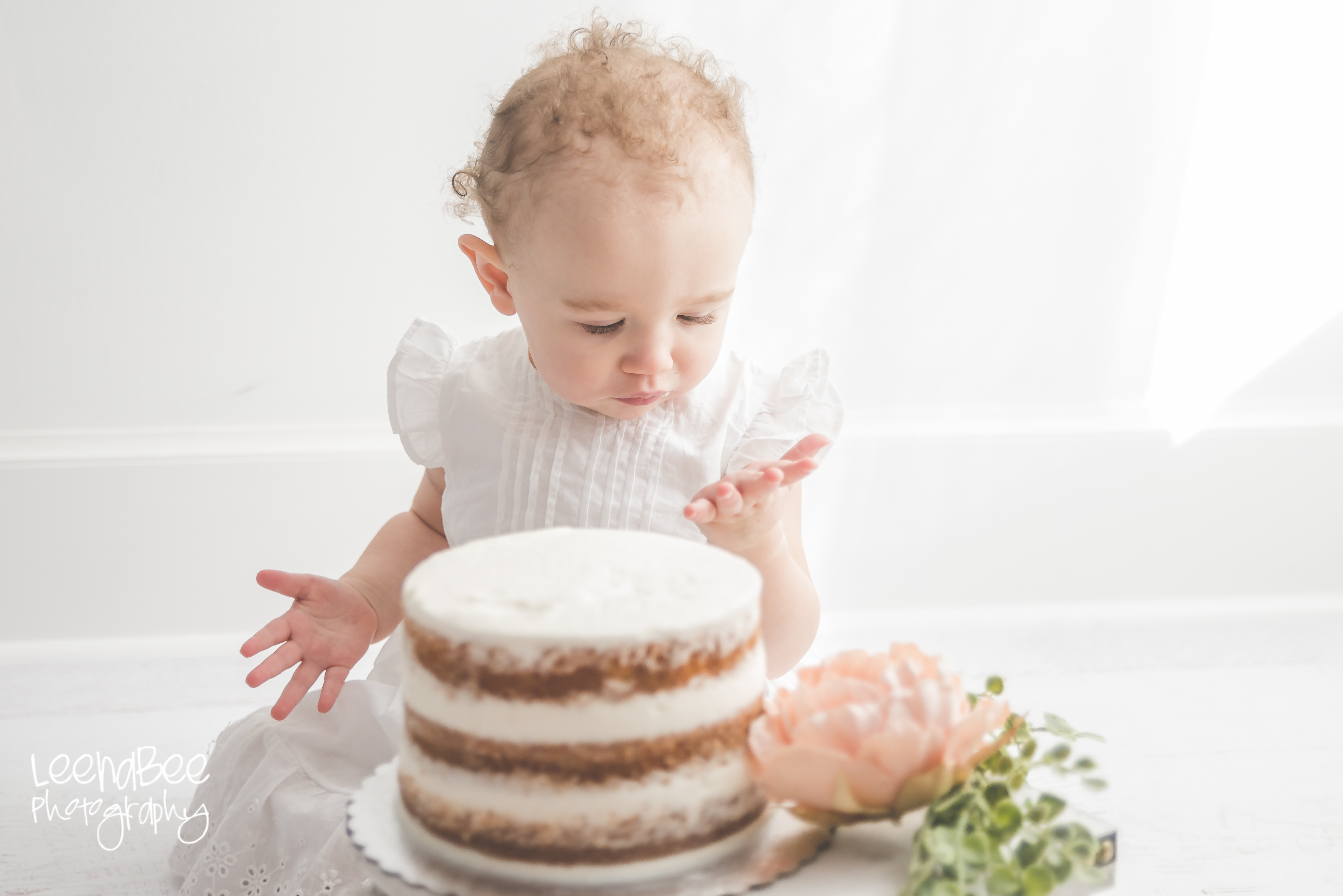 Boho First Birthday Cake Smash Dublin Ohio 21